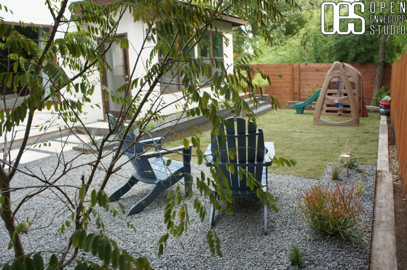 Mauk residence: patio and planters