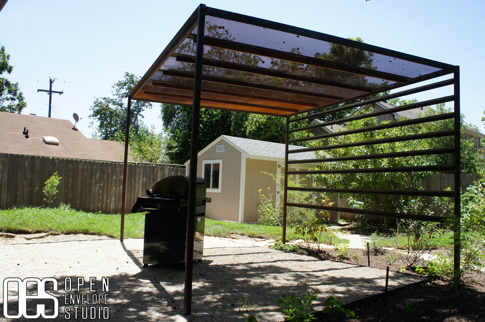 Pergola plans steel for Steel shade structure design