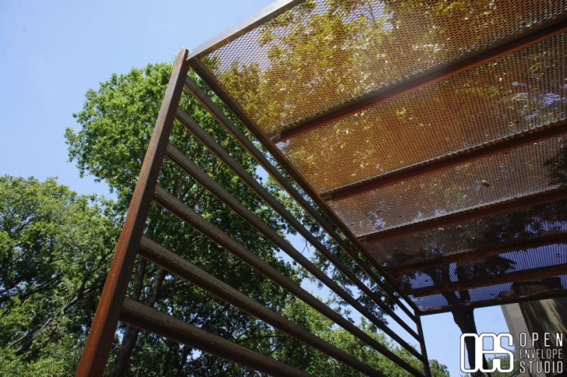 Open Envelope Studio | raw steel pergola