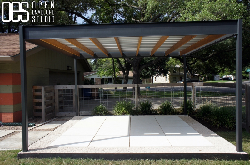 OES   Custom steel shade structure