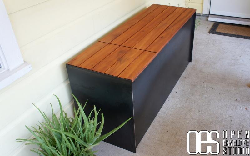 Open Envelope Studio hideaway bench