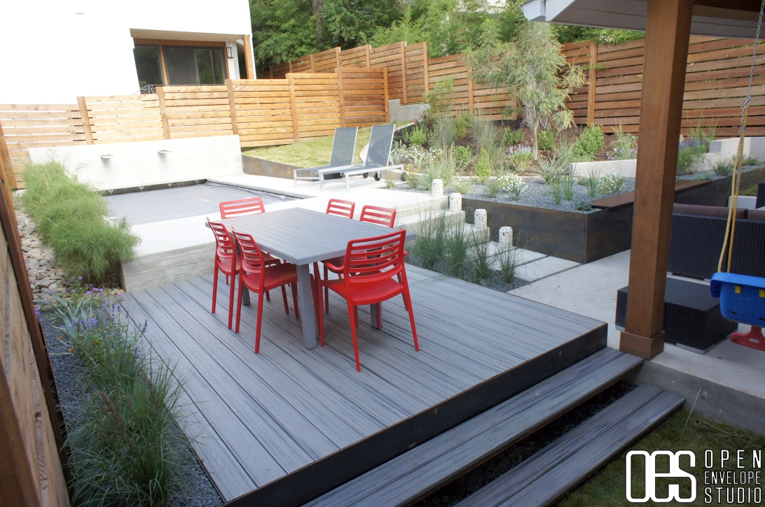 Open Envelope Studio | custom pool deck and planters