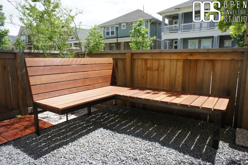 OES   Custom made bench details with Texas basalt