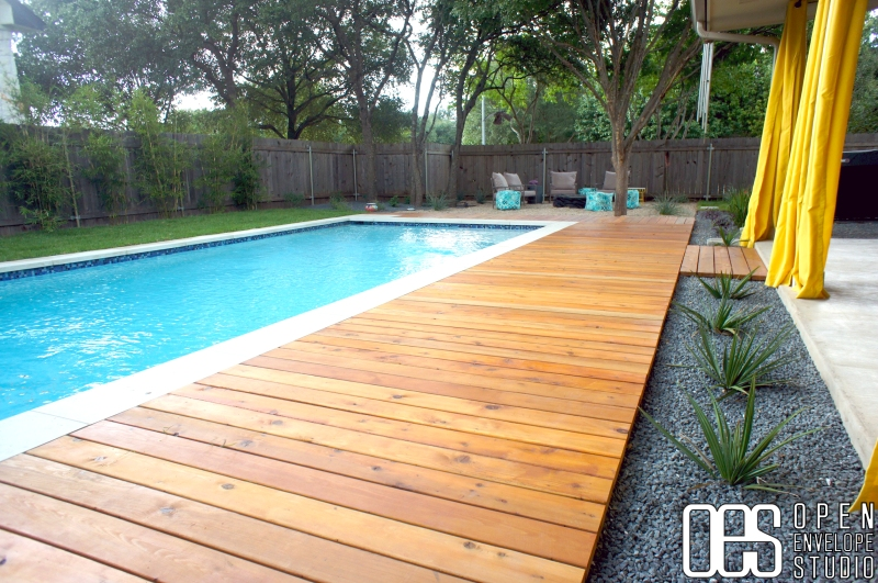 OES   Custom boardwalk and in-ground pool