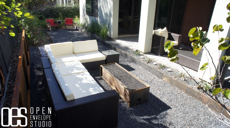 OES   Custom Steel Fire Pit Outdoor Living Space